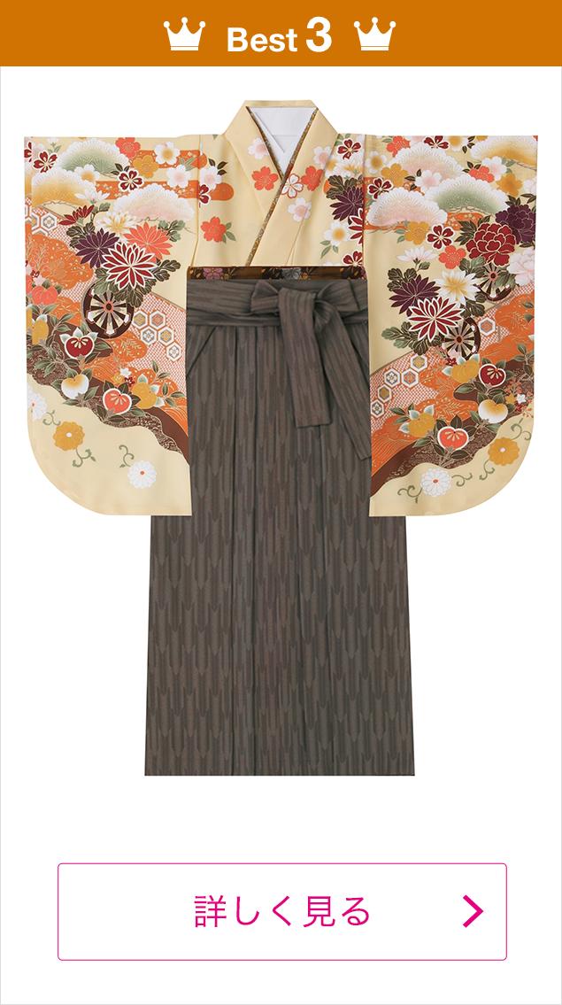 人気の袴スタイル3位・2016年度