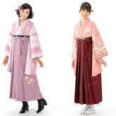 ミレニアルピンクの袴姿