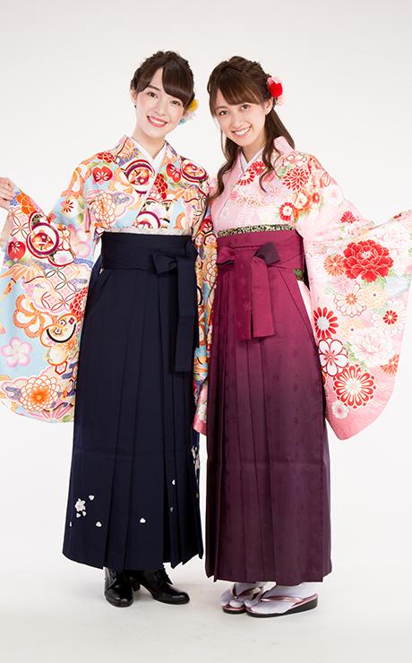 袴の着付けイメージ