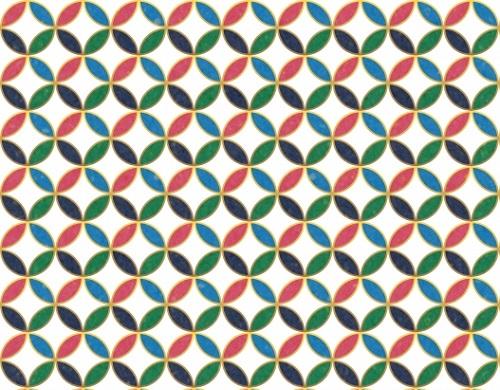 レトロ柄_幾何学模様