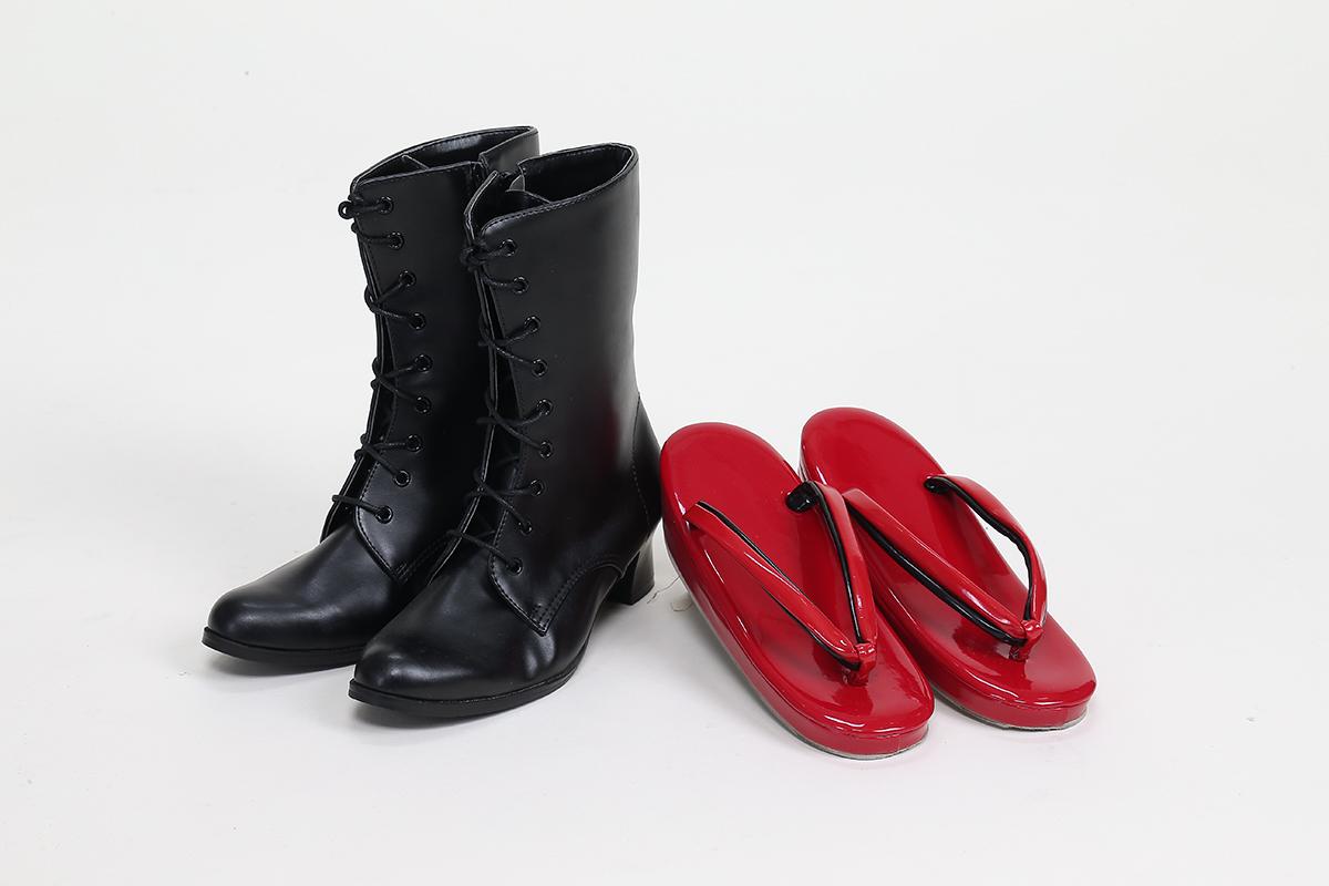 草履とブーツ